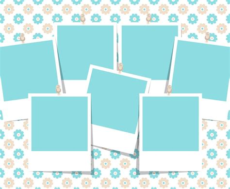 Beautiful Photo Collage Template Vector Art Graphics Freevector Com Printable Photo Collage Template