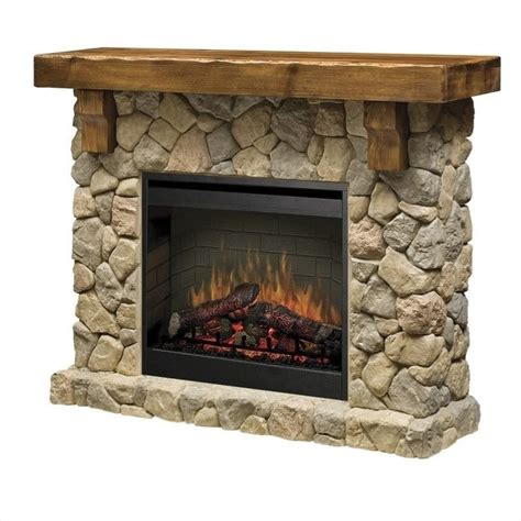 Standing Fireplace by Dimplex Electraflame Fieldstone Free
