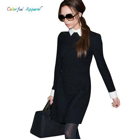 fashion collar c 377 2013 fashion style beckham dress slim turn collar