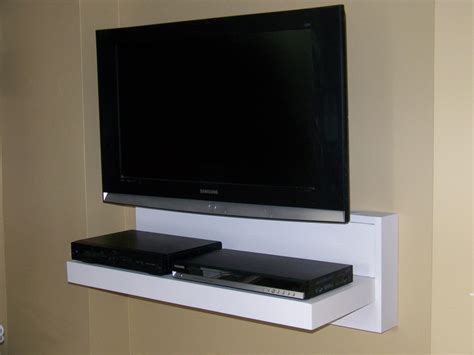 floating media shelves furniture solid wood tv stand and media shelf the most