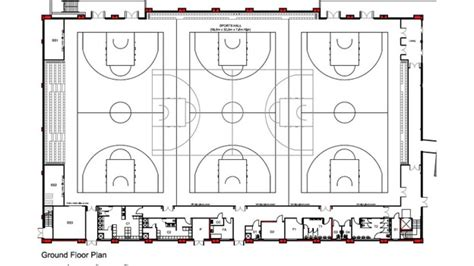 basketball gym floor plans anger over 2000 seater arena itv news