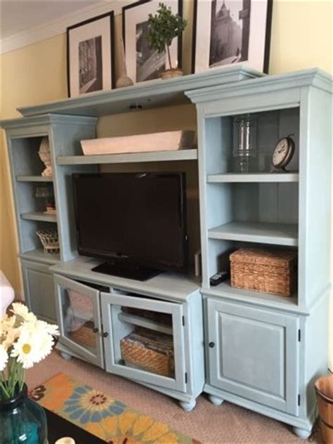 chalk paint entertainment center style the photo and mantle shelf on