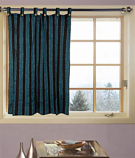 single window curtain furnishing single window eyelet curtain stripes blue buy furnishing single window