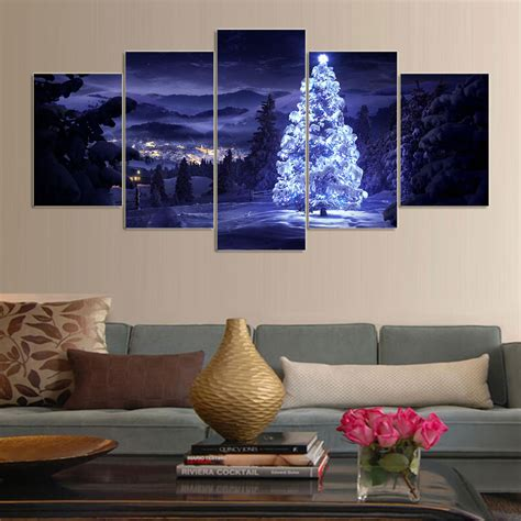 piece canvas art living room christmas decorations