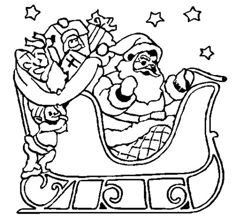 free coloring pages of santa s sleigh free coloring pages of santa on sleigh