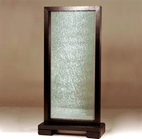 Glass Panel Room Divider Single Panel Crackled Glass Room Partition Modern Screens And Room Dividers By Modern