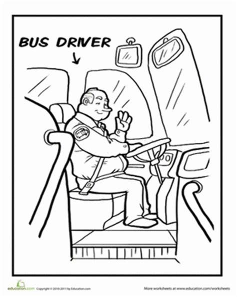 coloring page of school bus driver bus driver coloring page education com