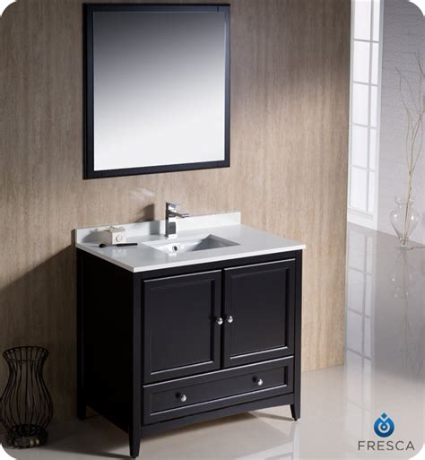 36 Quot Fresca Oxford Fvn2036es Traditional Bathroom Vanity Bathroom Vanity Espresso