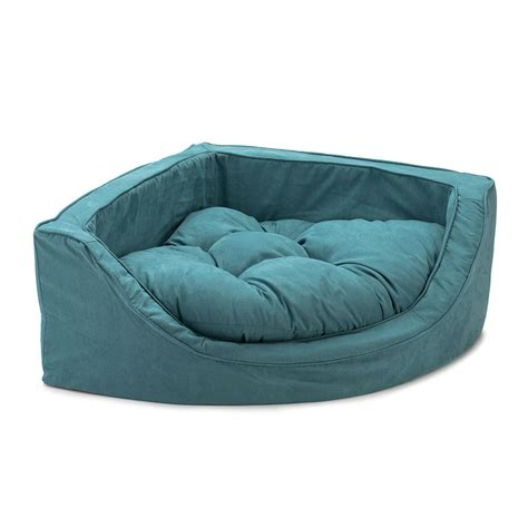 corner dog bed snoozer luxury overstuffed corner dog bed 28 colors