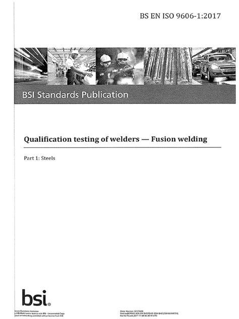BS EN ISO 9606-1;2017