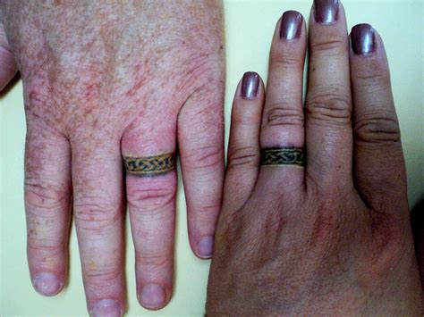 engagement ring tattoos get the permanent expression of with a wedding ring