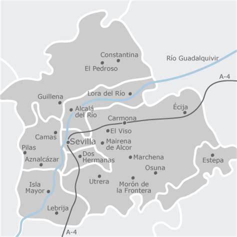 mapa de sevilla provincia idealista