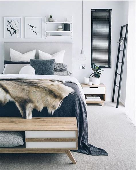 bedroom  scandinavian style ideas  scandinavian