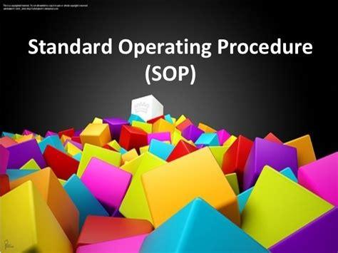 Standard Operating Procedure Sop Powerpoint Template