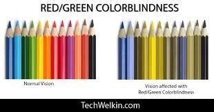 it is difficult to distinguish between colors at because how does the color green and appear to a colorblind
