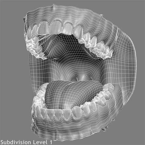 maya werewolf tutorial realistic teeth gums tongue max topology teeth