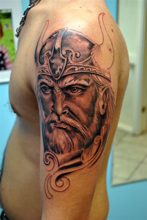 viking tattoo half sleeve progress by gettattoo on deviantart