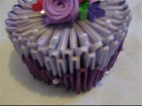 3d Origami Cupcake - 3d origami cake a birthday present