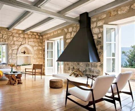 stone house salon 13 superbes salons avec des murs en pierres naturelles bricobistro
