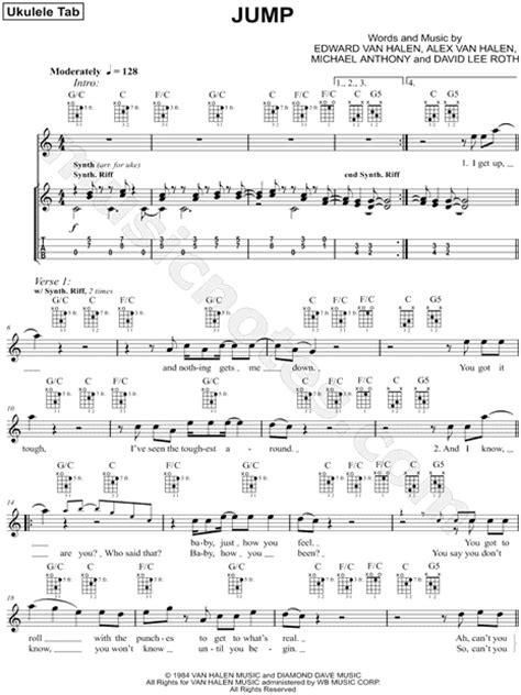 lyrics tattoo van halen übersetzung van halen quot jump quot ukulele tab in c major download print