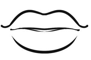kissing lips coloring page lips coloring pages clipart best