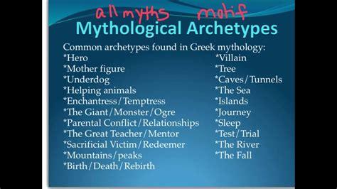 Mythology Archetypes by Myth Motif And Archetype Intro