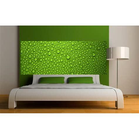 tête de lit en papier peint 1037 papier peint t 234 te de lit gouttes sur fond vert d 233 co