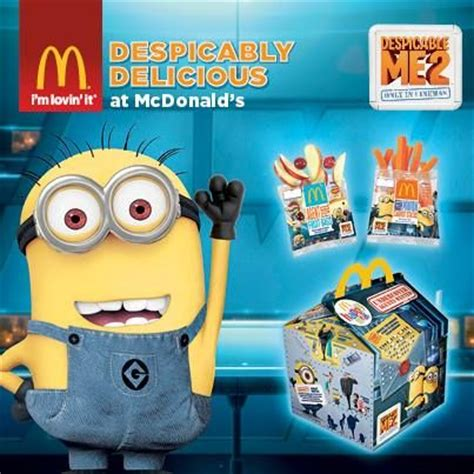 Minion Happy Meal Mcdonald Cards despicable me 2 fruit rollups photos minions from despicable me 2 with your happy meal at