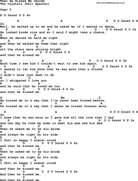Guitar Chords For Kiss Me
