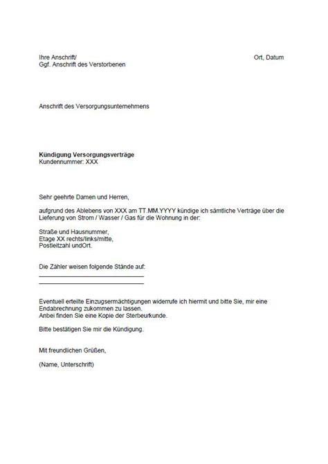 kuendigung mietvertrag wohnung muster kostenlos kuendigung