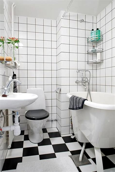 Black And White Tiled Bathroom Ideas Small Bathroom Tile Bright Tiles Make Your Bathroom
