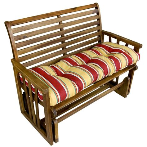 46 bench cushion stay outdoor comfortably sitting on a bench with the
