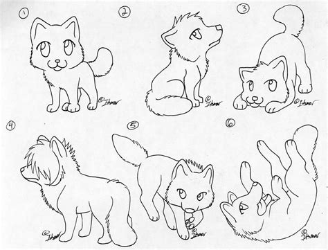baby werewolf coloring page free chibi wolf lineart by itsmar adopts on deviantart