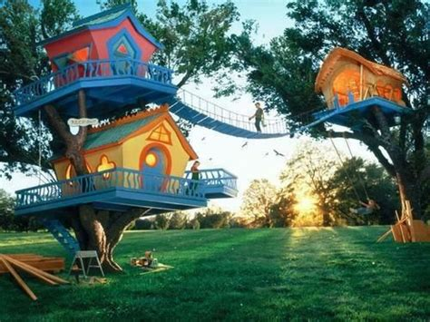 kids dream backyard awesome tree fort for kids outdoor spaces pinterest