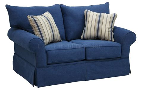 blue jean sofa blue denim fabric modern sofa loveseat set w options