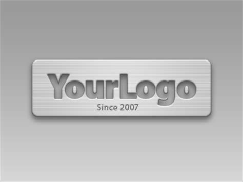 metal logo design photoshop free brushed metal photoshop style ebin