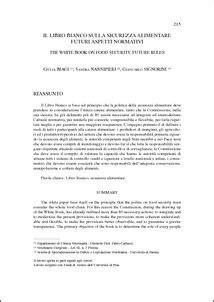 libro bianco sicurezza alimentare il libro bianco sulla sicurezza alimentare futuri aspetti