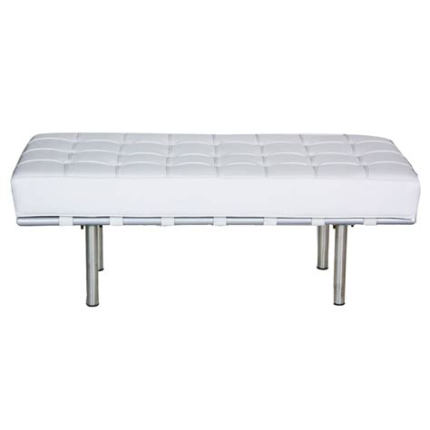 white tufted bench white leather tufted bench peter corvallis productions