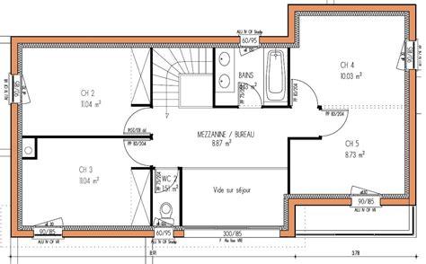 plan maison moderne 4 chambres plan de maison plain pied 4 chambres gratuit 3 plan