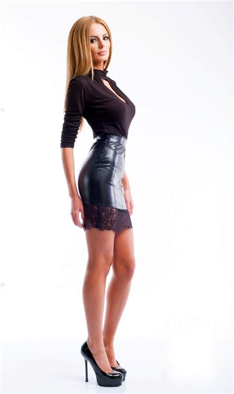 Mini Skirt 1 lovely in leather miscellaneous leather 21