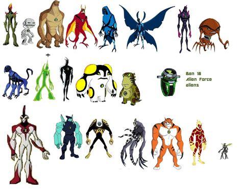 All ben 10 alien force aliens by ebomnitrix on deviantart