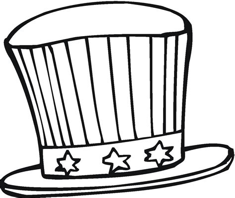 free printable top hat coloring page coloring home