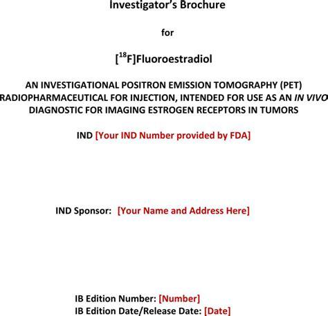 investigator brochure investigator brochure for free tidyform
