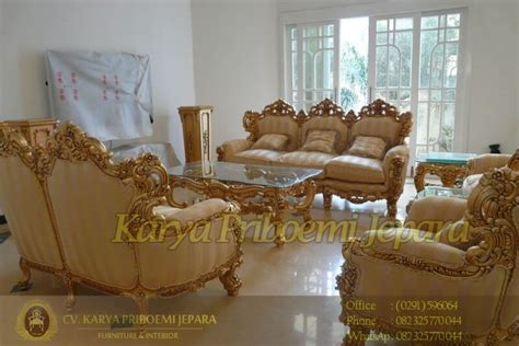 Kursi Tamu Second sofa tamu mewah orfeo karya priboemi mebel jepara jati mahoni furniture