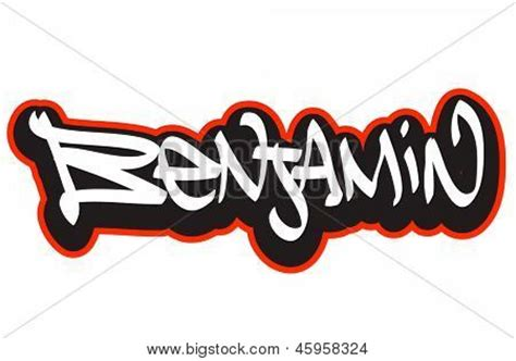benjamin graffiti font style name hip hop design template
