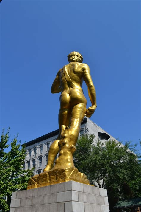 statue of david travelin man gold statue of david