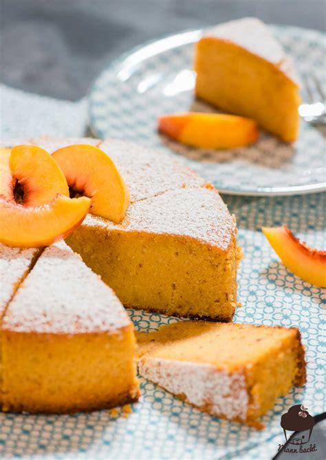 glutenfreier kuchen mit maismehl marsala polenta torte mit geschmorten nektarinen