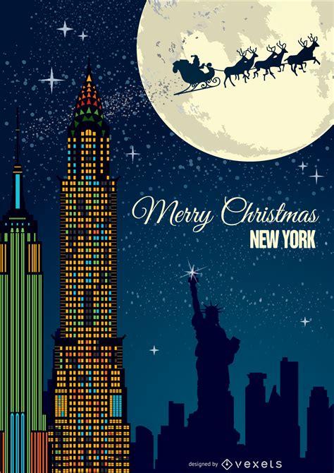 christmas   york postcard vector