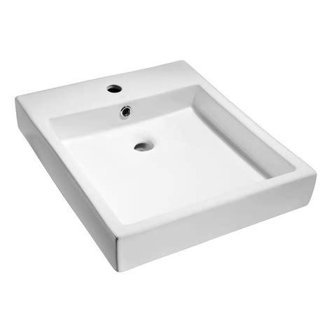 home depot white vessel sink anzzi deux series ceramic vessel sink in white ls az124
