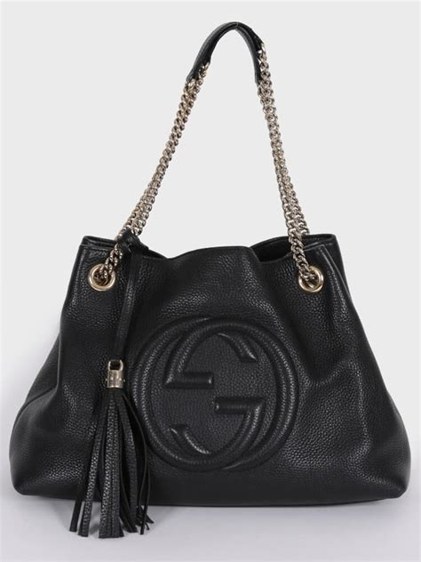 gucci soho leather shoulder bag black luxury bags